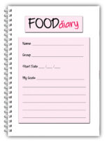 A5 Personalised Diet Diary -Leopard Print