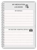 A5 Personalised Medication Log Books