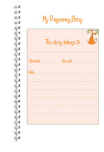 A5 Personalised Pregnancy Diary/Journal Pink The Stages