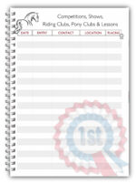 A5 Personalised Equine Horse Pony Kids Competition Log Book 5