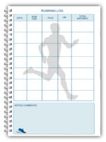 NEW A5 PERSONALISED RUNNING LOG BOOK DIARY 50 PAGES RUNNING 03