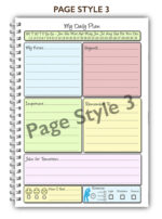 A5 Personalised 50 page Girl Shopping Planner